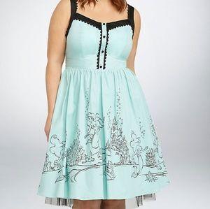 Torrid Disney Little Mermaid Swing Dress Size 20